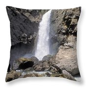 Tower Fall Of Yellowstone Throw Pillow