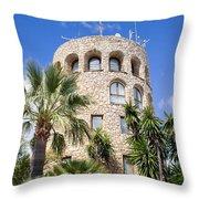 Tower In Puerto Banus Throw Pillow