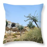 Tower Of Beitin - Biblical Bethel Throw Pillow