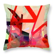 Tower Poly 13 Throw Pillow