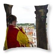 Tower Trumpeter - Prague Throw Pillow