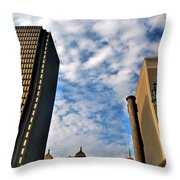 Towering Towers Throw Pillow