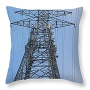 Towers And Lines Throw Pillow