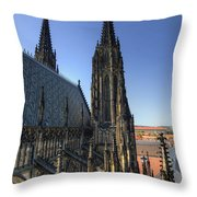 Towers Of The Cathedral Throw Pillow