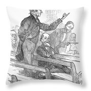Town Meeting, 19th Century Throw Pillow