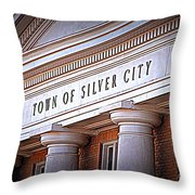 Town Of Silver City New Mexico Throw Pillow