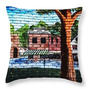Town Wall Art Throw Pillow
