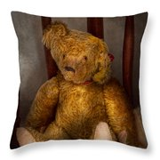 Toy - Teddy Bear - My Teddy Bear  Throw Pillow by Mike Savad