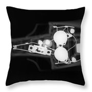 Toy Car X-ray Throw Pillow