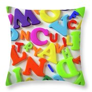 Toy Letters Throw Pillow