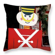 Toy Soldier Christmas In Virginia City Throw Pillow