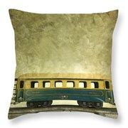 Toy Train Throw Pillow by Bernard Jaubert