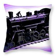 Toy Train Throw Pillow