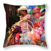 Toy Vender In San Jose Del Cabo Mexico Throw Pillow