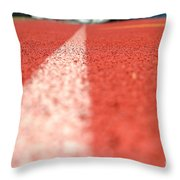 Track Line Throw Pillow