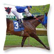 Track Listed Muddy Throw Pillow