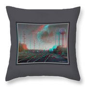Tracking The Storm - Red-cyan Filtered 3d Glasses Required Throw Pillow