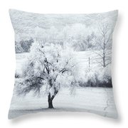 Tracks In The Frost Throw Pillow