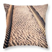 Tracks In The Sand Throw Pillow