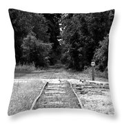Abandoned Rails Throw Pillow