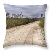 Tracks To The City Throw Pillow