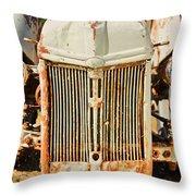 Tractor Face Throw Pillow