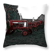 Tractor Row Throw Pillow