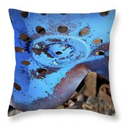 Tractor Seat Close Up Throw Pillow