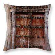 Traditional Carved Door Throw Pillow