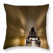 Traditional Lantern At Riad Dar Hanane Throw Pillow