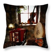 Traditional Musical Instruments, In Old Throw Pillow