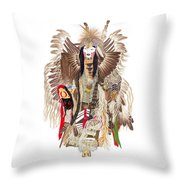 Traditional Pow-wow Dancer 1 Throw Pillow