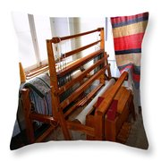 Traditional Weavers Loom Throw Pillow