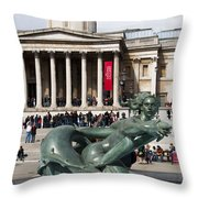 Trafalgar Square With Fountain Throw Pillow