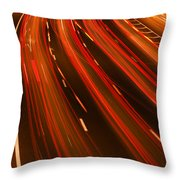 Traffic River Throw Pillow