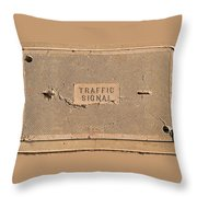 Traffic Signal  Throw Pillow