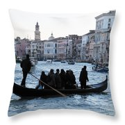 Traghetto . Gran Canal. Venice Throw Pillow