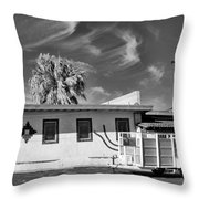 Trailer Town 2 Bw Throw Pillow