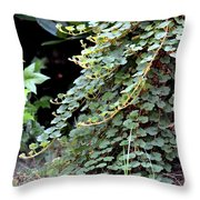 Trailing Green Throw Pillow