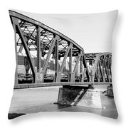 Train Across Bridge Throw Pillow