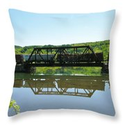 Train And Trestle Throw Pillow