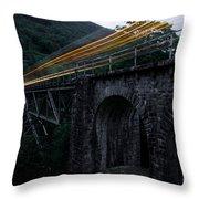 Train Lights Throw Pillow