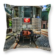 Train Of The Future Throw Pillow
