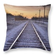 Train Tracks And Color 2 Throw Pillow