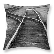 Train Tracks Switch Throw Pillow
