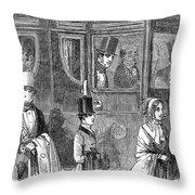 Train Travel: First Class Throw Pillow by Granger