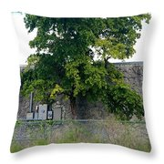 Train Tree Throw Pillow