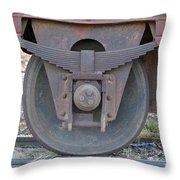 Train Wheel Throw Pillow