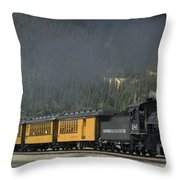 Trainload Of Tourists Throw Pillow