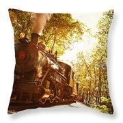 Trains A Coming Throw Pillow